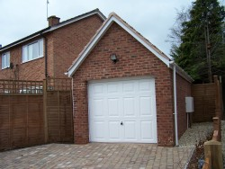 One off build house and garage