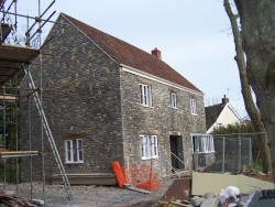 Two new build houses at Badgworth, Somerset